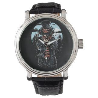 El reloj de los hombres enojados del sombrerero