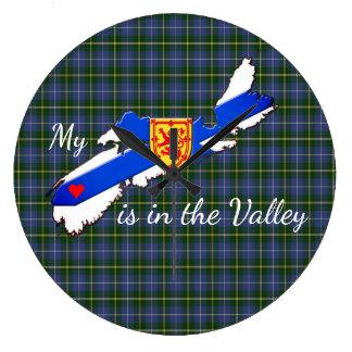 El reloj de pared mi corazón está en el valle
