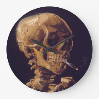 Reloj Redondo Grande El reloj de un cigarrillo ardiente de Van Gogh