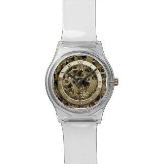 El reloj del metal de Steampunk adapta el extracto