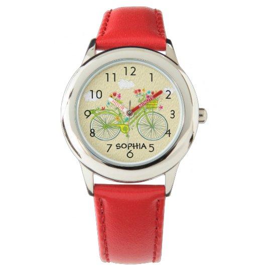 El reloj del vintage del niño personalizado lindo