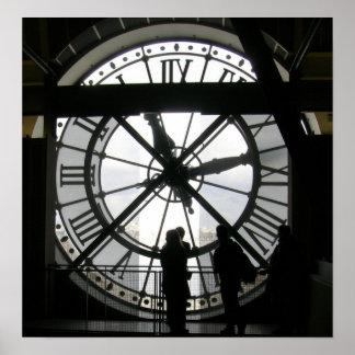 El reloj en Musee d'Orsay Posters