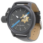 El reloj fino del ayudante del sheriff de Blue