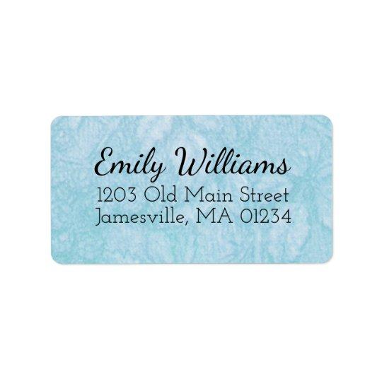 El remite azul y blanco etiqueta w texto negro etiqueta de dirección