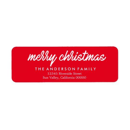 El remite de las Felices Navidad etiqueta navidad Etiqueta De Remite