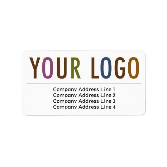 El remite del negocio grande etiqueta el logotipo etiqueta de dirección