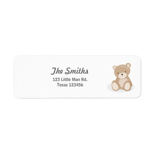 El remite del oso de peluche etiqueta blanco