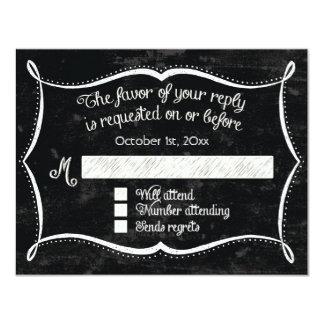 El remolino rústico del estilo de la pizarra invitación 10,8 x 13,9 cm