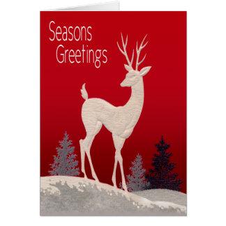 El reno sazona saludos tarjeta de felicitación