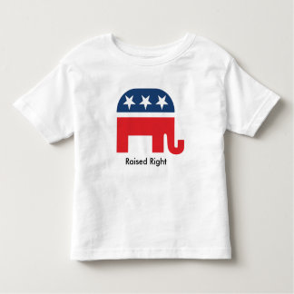 El republicano divertido adecuado criado embroma camiseta de bebé