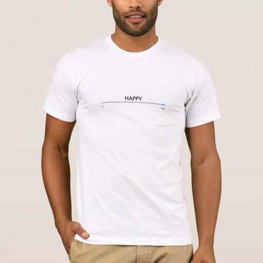 El resbalador feliz se fija a por completo camiseta
