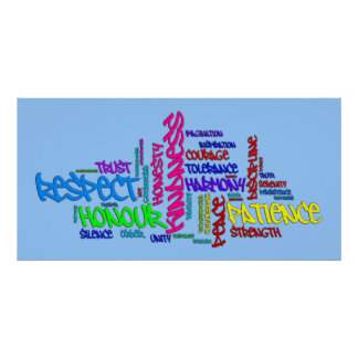 El respecto, amabilidad, confianza, virtudes redac posters