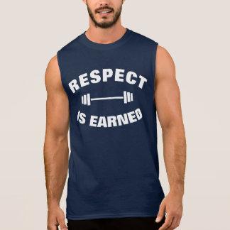 El respecto se gana levantamiento de pesas fresco camiseta sin mangas