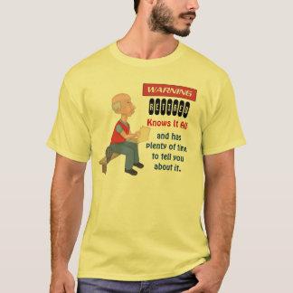 El retiro divertido lo sabe todo camiseta