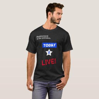 El retiro está para la camiseta personalizada