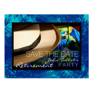 El retiro tropical con las palmas azules ahorra la postal