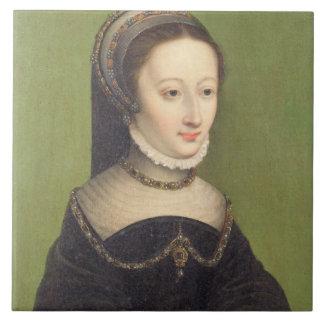 El retrato de una señora, dijo ser el d'Albret de  Azulejo Cuadrado Grande