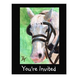 El retrato del caballo invita invitacion personalizada
