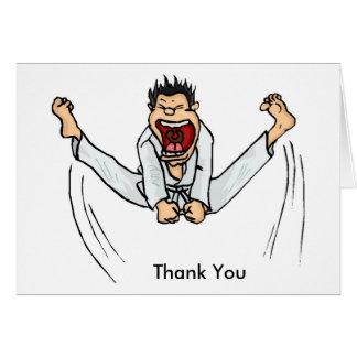 El retroceso de los artes marciales le agradece tarjeta pequeña