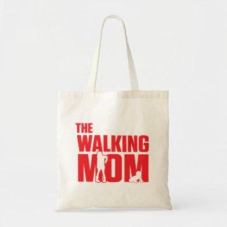 El retruécano divertido la mamá que camina bromea bolso de tela