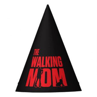 El retruécano divertido la mamá que camina bromea gorro de fiesta
