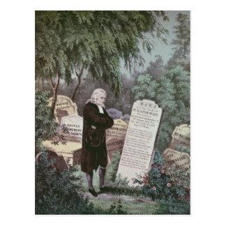 El Rev. John Wesley que visita el sepulcro de su Postal