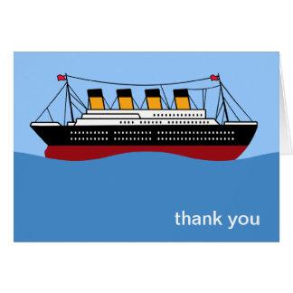 El revestimiento marino le agradece las tarjetas