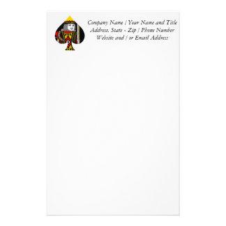 El rey de espadas papelería personalizada