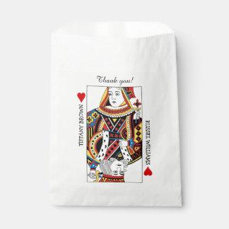El rey de la reina n de corazones que casa favor bolsa de papel