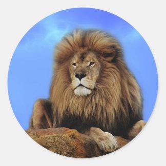 El rey del león etiqueta redonda