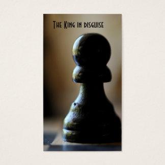 El rey en disfraz tarjeta de negocios