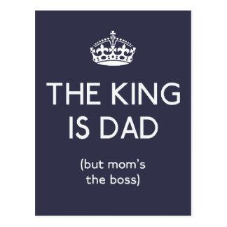 El rey es el papá ID179 Postal