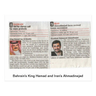 El rey Hamad de Bahrein y Admadinejad de Irán Postal