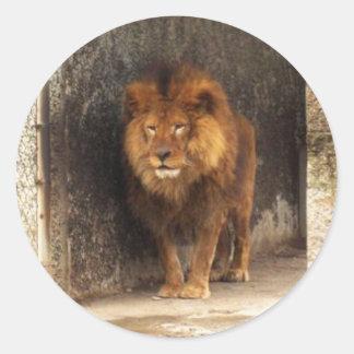 El rey etiquetas redondas