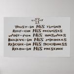 El rezo cristiano de la fe imprime los posters de