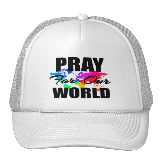 El rezo cristiano del mundo de la fe ruega para gorros