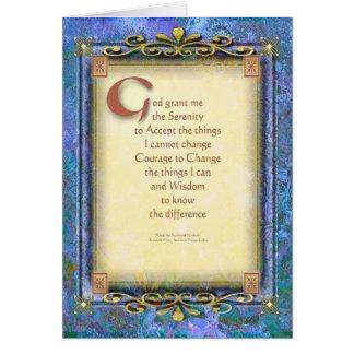 El rezo de la serenidad iluminó 3 tarjeta de felicitación