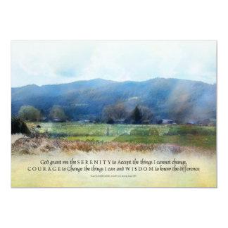 El rezo de la serenidad pasta la invitación invitación 12,7 x 17,8 cm