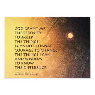 El rezo de la serenidad puede estar en la luna invitación 12,7 x 17,8 cm