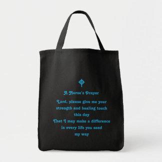 El rezo de una enfermera bolsa tela para la compra