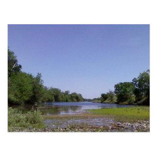 El río americano Sacramento, CA Postal