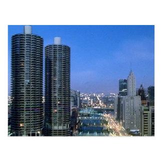 El río Chicago Postales