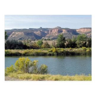 El río Colorado en Fruita, Colorado en septiembre Postal