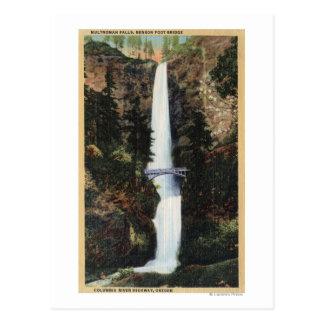 El río Columbia, O - caídas y Benson de Multnomah Postal