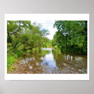 El río de Jackson, valle ocultado, Virginia Póster