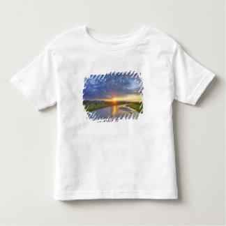 El río del polvo coge la luz pasada en Custer Camiseta De Niño