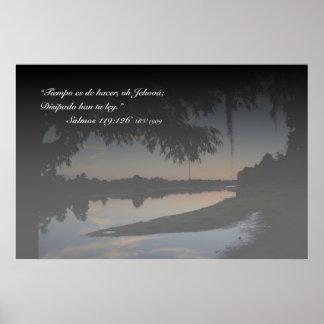 EL Río Hillsborough de la estafa de Salmos 119-126 Posters
