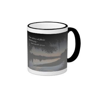 EL Río Hillsborough Tazon de la estafa de Salmos 1 Taza De Café