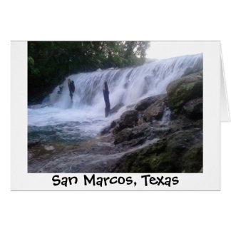 El río San Marcos cae Notecard Tarjeta De Felicitación