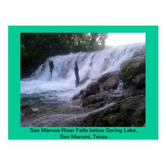El río San Marcos cae postal